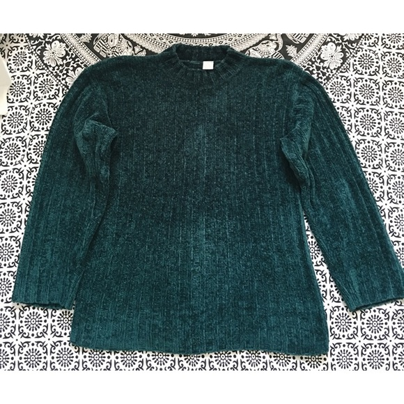 Vintage Sweaters - Emerald• Oversized chenille jumper